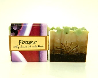 FOREST / Handmade Cold Process Organic Soap / Woodland Vegan Soap Bar