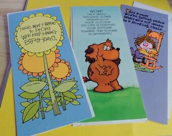 3 Vintage Hallmark Contemporary Birthday Cards (unused) with envelopes