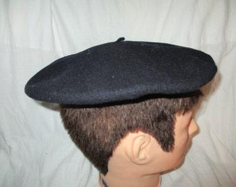 Black Wool Beret Prima Foulard  Impermeable Cap Beret Hat Mens  Vintage Hat