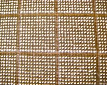 Morgan Jones Mocha and Cream Hobnail with Copper Lurex Vintage Cotton Chenille Bedspread Fabric  18 x 24 Inches