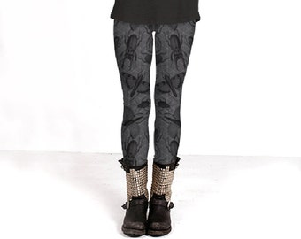 Creepy Crawly (Insects Pattern) - Leggings - Yoga Pants - Death's Amore Clothing - From XS to XL