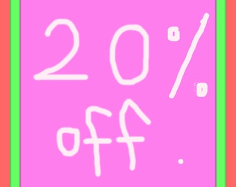 20 Percent off code /  Anything /InTheDay vintage shop anything coupon code