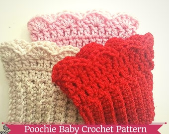 PATTERN - Crochet Scalloped Boot Toppers/Cuffs