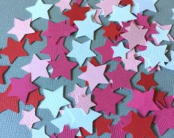 Star Party Confetti, Girl Doll Party Confetti, American Confetti, Pink Star Confetti, Girl Birthday Party, Girl Star Confetti, Pink Confetti