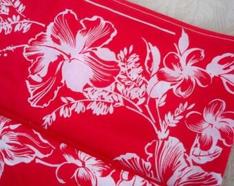 Vintage Clothing Women's Sarong Beachwear Skirt Floral Red Wrap