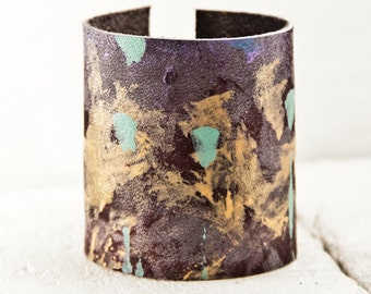 Cuffs Bracelets Bohemian Gypsy - Wide Bracelets Leather Jewelry - Rain Wheel  Wristbands