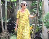 Dewi Dress, Sizes S, M, L, Bali Batik, Rayon