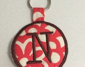 N Embroidered Keychain Ready to ship