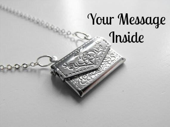 Silver Envelope Locket