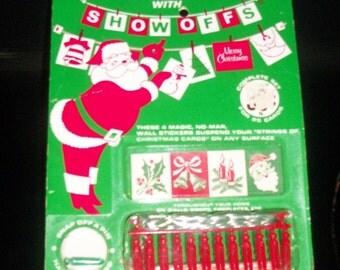 1960s Vintage Christmas Card Display Set