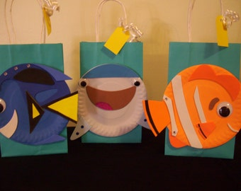 Dory Birthday Bags, Dory Favor Bags, Dory Birthday Party