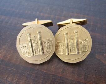 Vintage Cufflinks, Royal Canadian Mint Souvenir Gold Cufflinks