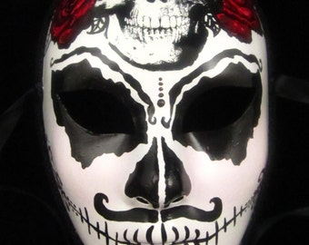 Senor Craneo Male Mask, Day of the Dead full faced paper mache mask
