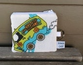 Mystery Machine Mini Wallet with ID Holder Upcycled
