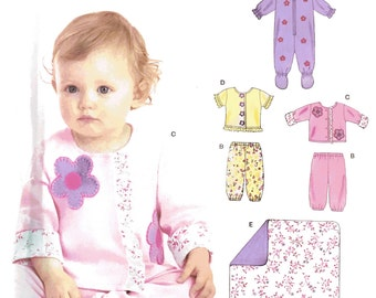 Simplicity New Look 6636 Sewing Pattern, Baby Layette, All-in-One, Jacket, Top, Pants, Blanket