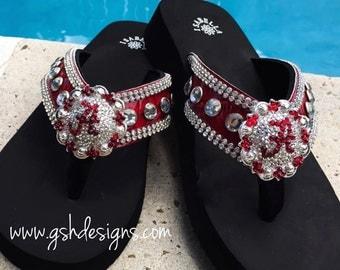 Alabama Crimson Tide Designer Flip Flops