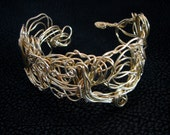 Wire cuff, twisted wire bracelet cuff, one of a kind, hammered cuff bracelet, brass wire cuff bracelet, free form cuff