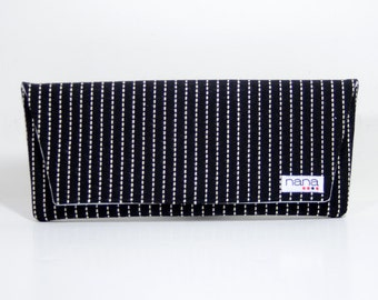 Nana black and white Casey envelope clutch