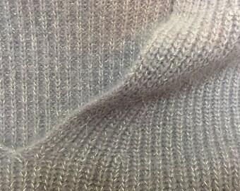 Lavender Sparkly Angora Sweater