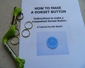 Dorset Button Making Kit - Green - How to Make 6 Buttons