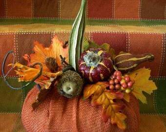 Primitive Halloween Pumpkin Jack O' Lantern Centerpiece Decoration Table Porch Fall Autumn Gift