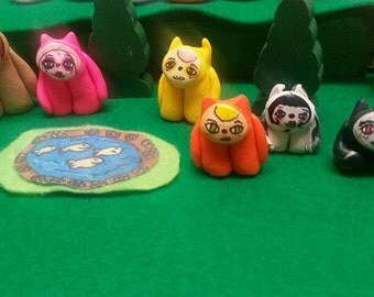 Little Weirdlings, Beasties,monster,toy,clay,figurines,miniature,party,gift,adorable,sweet,fun