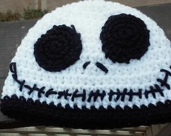 Baby Beanie / Nightmare before Christmas / Jack Skellington Beanie / Crochet Beanie