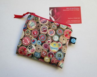 Vintage Sewing Fabric Card/Coin Purse