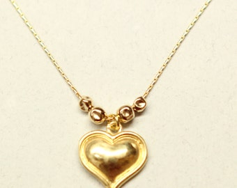 Gold Heart Necklace, 18k Gold Plated, Beautiful Jewelry,wedding necklace,Gift for her,love necklace