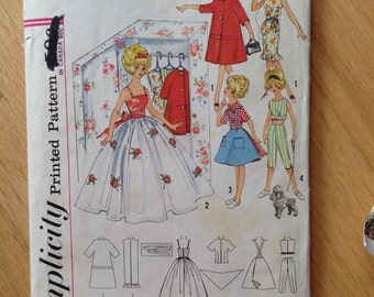 Vintage 60s Simplicity 4883 Barbie outfits