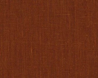 Solid color linen drapes,Kenya, rust-brown linen curtain panels, rod pocket panels