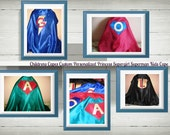 Childrens Capes Custom Personalized Princess Supergirl Superman Kids Cape