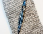 Nalbinding Needle - Midnight Blue Swirls AC 218