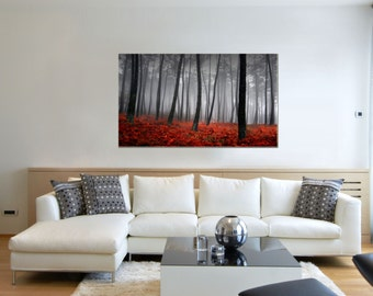 Canvas Prints - Forest Prints on Canvas - Autumn Decor - Forest Canvas Art - Ready to Hang - Autumn Leaves