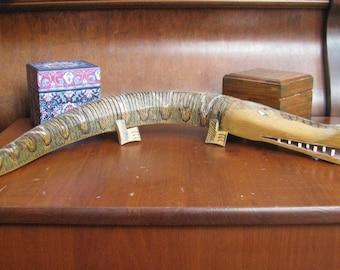 Folk art: Carved flexible wooden alligator