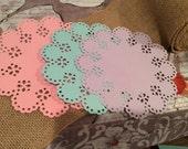 Paper Doillies Custom Colors Pinks Blues Purples Yellows