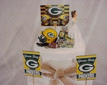 green bay packers wedding cake topper unique green bay toppers related items etsy 14965