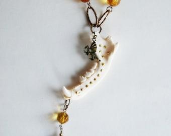 Porcupine Jawbone Necklace