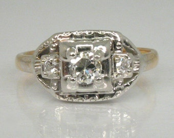 Vintage Diamond Engagement Ring - 0.28 Carats