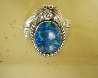 Native American Sterling Silver Cuff Bracelet