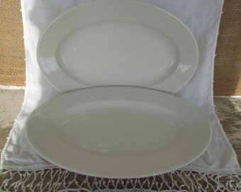 White Restaurant ware Platter Restaurantware China Platters Country Cottage Farmhouse Rustic PrairieTableware Shabby Chic Vintage Glamping
