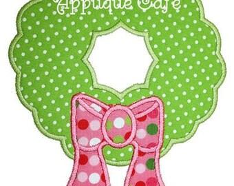 046 Wreath Machine Embroidery Applique Design