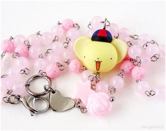 Cardcaptor Sakura Kero Necklace, Pastel Pink Necklace, Fairy Kei Necklace, Sweet Lolita, Kawaii Jewellery, Magical Girl