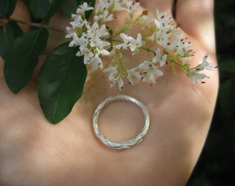 whimsical dainty sterling silver branch twig ring VINTAGE elven druid