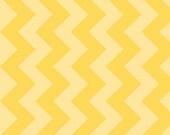 Store Closing SALE- Riley Blake Designs Basics Medium Chevron, Yellow Tone on Tone- 1 yard