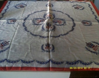 Vintage Queens silver jubilee 1977 scarf