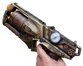 Steampunk STRONGARM toy Gun  Zombie walking man Nerf soft dart Vampire Victorian cosplay Limited