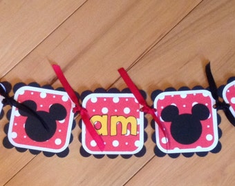Mickey Mouse high chair banner - Birthday Decorations, Party Supplies