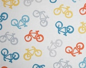 NEW!  Bicycle Print Fabric - Cycles of Life Cotton Fabric - By Maywood Studios - By the Yard