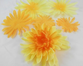 Yellow Silk Flowers crafting scrapbooking floral flowers artificial flowers pretty crafts bouquets cards